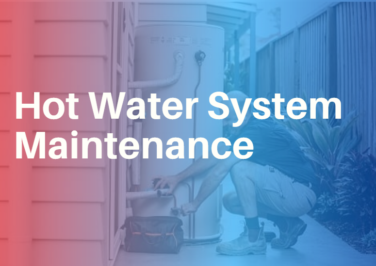 hot water system maintenance gradient image